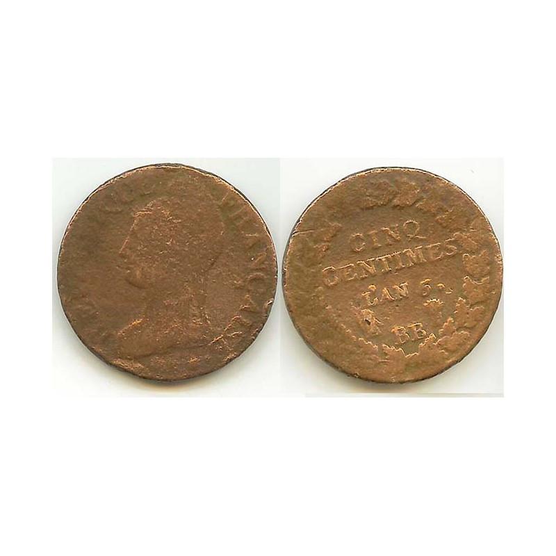 5 Centimes Dupré an 6 BB ( 001 )