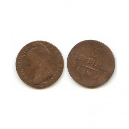 5 Centimes Dupré an 4 A ( 002)