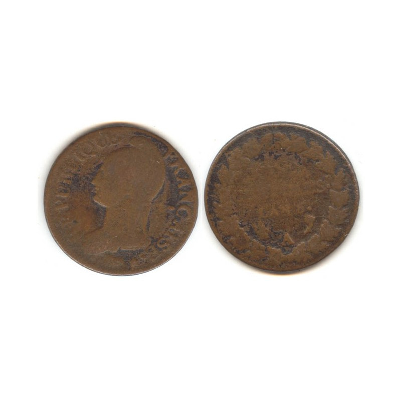 5 Centimes Dupré an 6 A ( 001 )