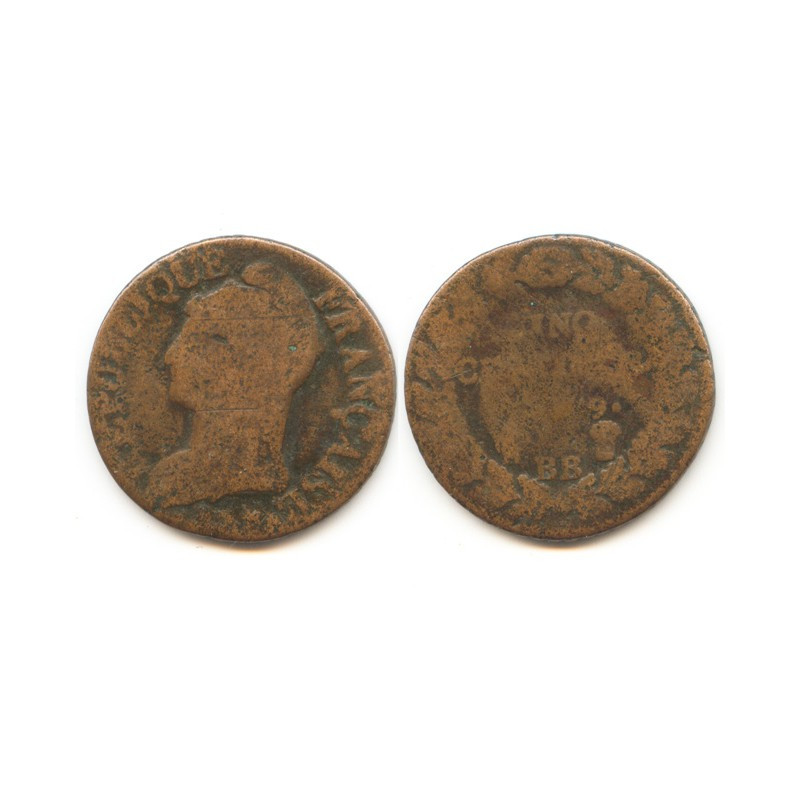 5 Centimes Dupré an 9 BB ( 001 )