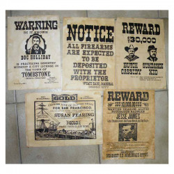 Lot 5 affiches USA Western , Cowboys ( 019 )