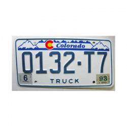 Plaque d Immatriculation USA - Colorado ( 776 )