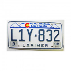 Plaque d Immatriculation USA - Colorado ( 777 )