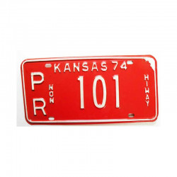 Plaque d Immatriculation USA - Kansas ( 780 )