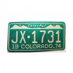Plaque d Immatriculation USA - Colorado ( 782 )