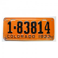 Plaque d Immatriculation USA - Colorado ( 784 )