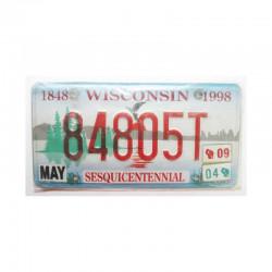 Plaque d Immatriculation USA - Wisconsin ( 785 )