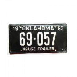Plaque d Immatriculation USA - Oklahoma ( 791 )