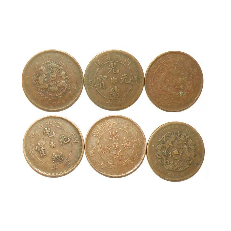 lot de 3 pieces de 10 cash Chine ( 002 )