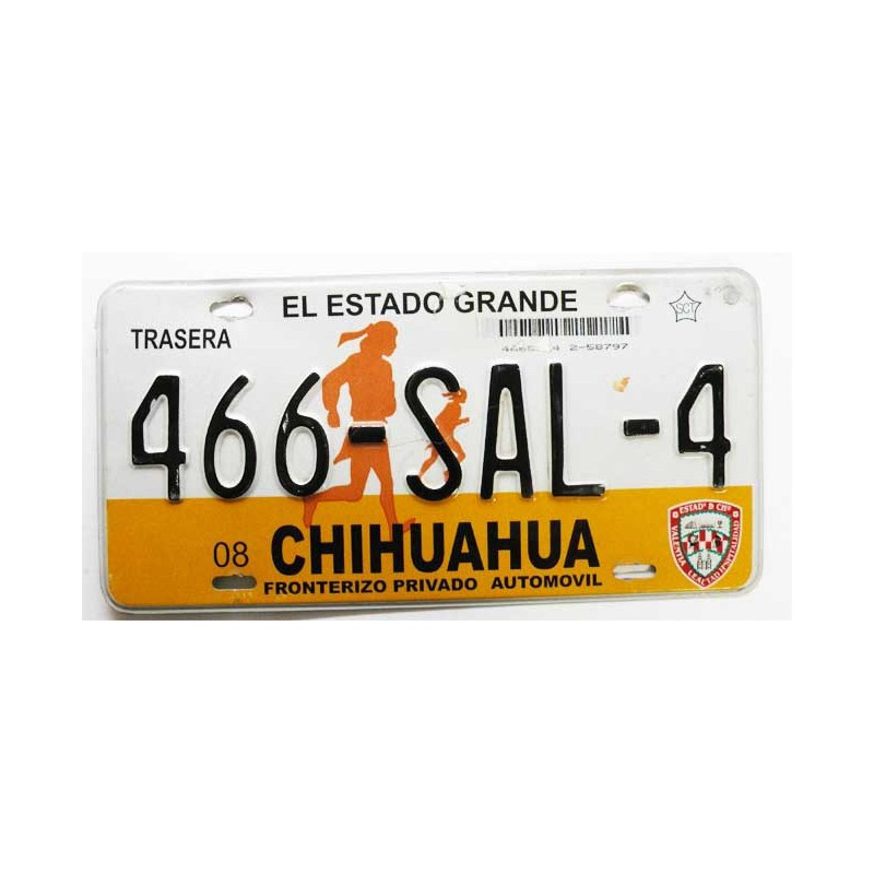 Plaque d Immatriculation Chihuahua ( 831 )