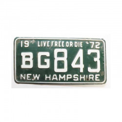 Plaque d Immatriculation USA - New Hampshire ( 837 )