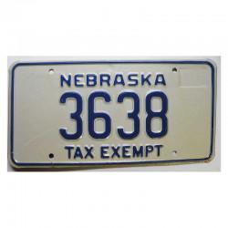 Plaque d Immatriculation USA - Nebraska  ( 893 )