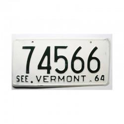 Plaque d Immatriculation USA - Vermont ( 902 )