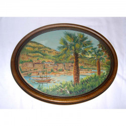 Aquarelle de Monaco originale de G. Rab