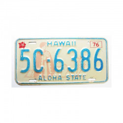 Plaque d Immatriculation USA - Hawaii ( 942 )