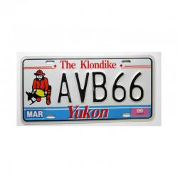 Plaque d Immatriculation Canada Yukon ( 965 )