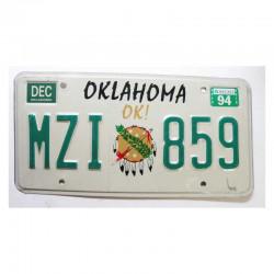 Plaque d Immatriculation USA - Oklahoma ( 964 )