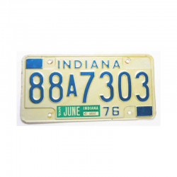 Plaque d Immatriculation USA - Indiana ( 960)