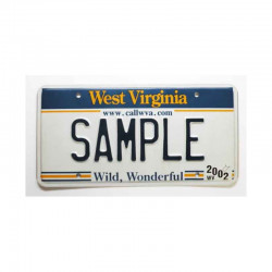 Plaque d Immatriculation USA - West Virginia ( 951 )