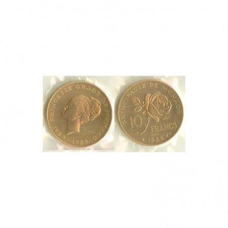 10 francs essai cupro/nickel FDC Pricesse Grace 1982 Monaco