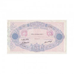 500 F Bleu et Rose 20/10/1932 TTB ( 093 )