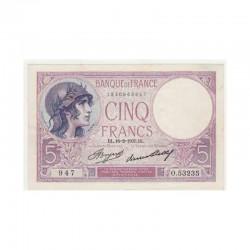 5 Francs Violet 16/02/1933 SPL + (205 )