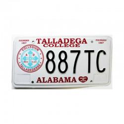 Plaque d Immatriculation USA - Alabama ( 996 )