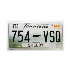 Plaque d Immatriculation USA - Tennessee ( 004 )