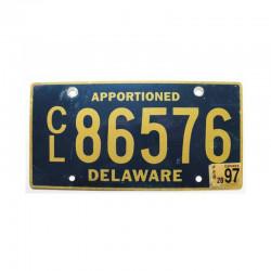 Plaque d Immatriculation USA - Delaware ( 992 )