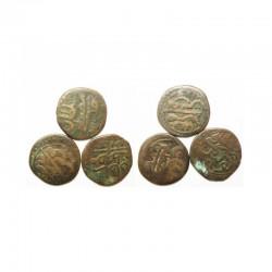lot de 3 Monnaies Tunisienes en Bronze ( 009 )