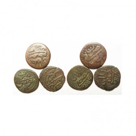 lot de 3 Monnaies Tunisienes en Bronze ( 010 )