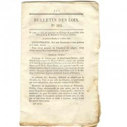 Bulletin des lois Louis Philippe ( 010 )
