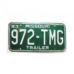 Plaque d Immatriculation USA - Missouri ( 112 )