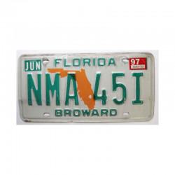 Plaque d Immatriculation USA - Floride ( 098 )