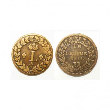 1 decime Louis XVIII 1815 BB ( 002 )