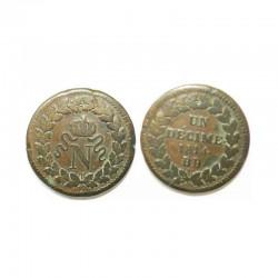 1 decime Napoleon 1 1814 BB ( 001 )