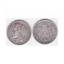 5 francs Napoleon III 1870 A argent ( 015 )
