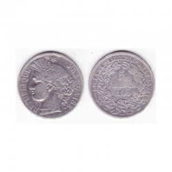 1 piece de 5 francs Ceres Argent 1849 A ( 002 )