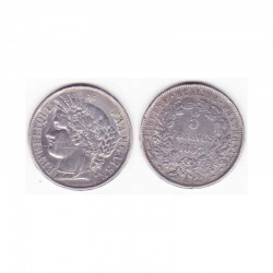 1 piece de 5 francs Ceres Argent 1850 A ( 002 )