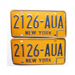 paire de Plaques d Immatriculation USA - New York ( 030 )