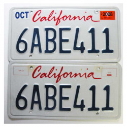 paire de Plaque d Immatriculation USA - California ( 024 )