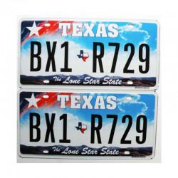 Paire de Plaque d Immatriculation USA - Texas ( 036 )
