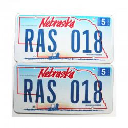 paire de Plaque d Immatriculation USA - Nebraska ( 040 )