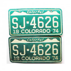 Paire de plaque d Immatriculation USA - Colorado ( 043)