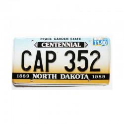 Plaque d Immatriculation USA - North Dakota ( 156 )