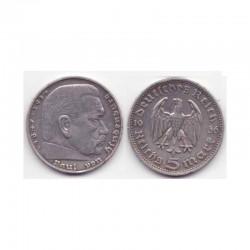 5 reichsmark Allemagne Argent 1936 D ( 001 )