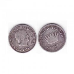 10 Soldi Italie Argent 1814 ( 001 )