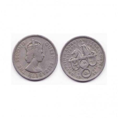 50 cents Carraibe Anglaise 1955 ( 001 )