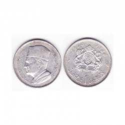1 Dirham Maroc Argent 1380 ( 002 )