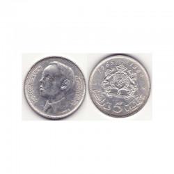 5 Dirham Maroc Argent 1384 ( 001 )